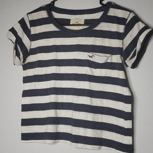 Hollister Striped Crop Top - Small